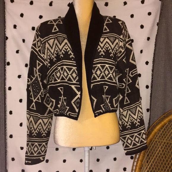 Vintage Western Aztec Tapestry Jacket